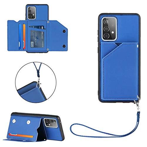 Ttimao Hoesje voor Samsung Galaxy A52 5G [Screen Protector] met Kaarthouder en Stand-Functie PU Leder Flip Wallet Cover…