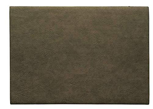 ASA 78305076 Set de table en PVC kaki 46 x 33 cm Végan leather, en PU 78305076 ! Set de 4 pailles en acier inoxydable EKM Living