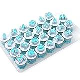 Kathope 26 Stück Kunststoff Großbuchstaben Alphabet Buchstaben Ausstechform Fondant Kuchen