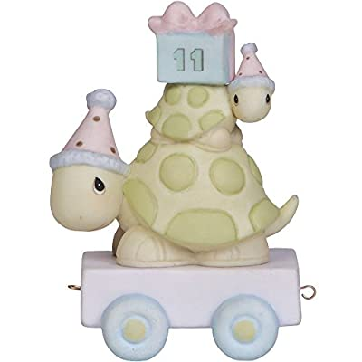 Precious Moments, Take Your Time It's Your Birthday, Birthday Train Age 11, Bisque Porcelain Figurine, 142031