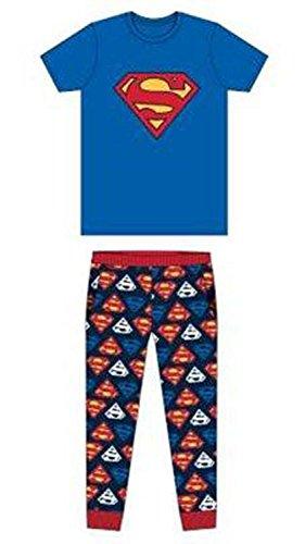 F4S - Pijama - para hombre Azul Superman azul. S