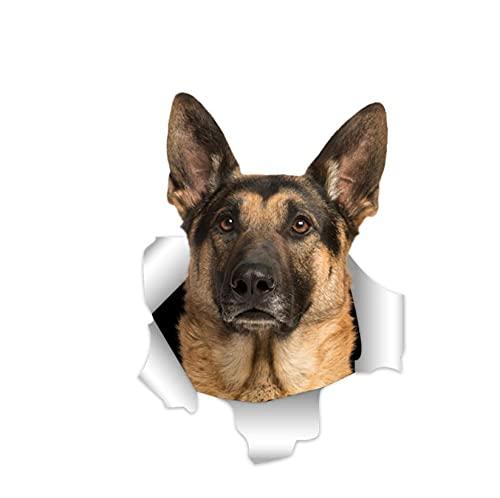 Pegatinas Coche Personalizadas Etiqueta Engomada De La Pared Del Perro Pastor 3D De 20 Cm Para La Decoración De Las Habitaciones Resistencia A La Decoloración De Bricolaje Para La Decoración Del Dorm