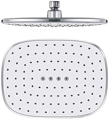 HongTeng-Shower head Round Stainless Steel Shower Head Rain Shower Chrome High Pressure Ultra-thin Shower Head