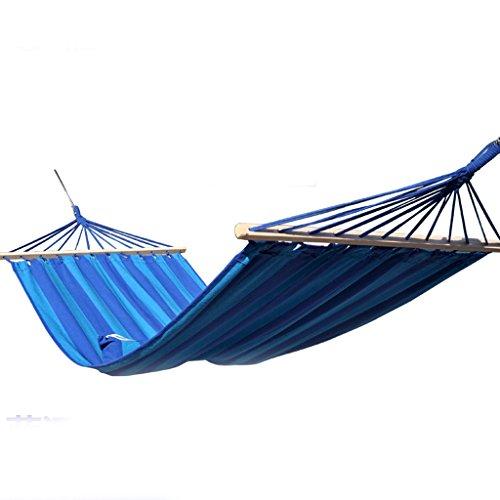 MMWYC Hammock Camping Outdoor Hammock Stick Canvas Breathable Portable Leisure Single Hammock Blue Garden Hammock Garden Hammock 200x100(78.7x39.4in) Blue