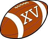 Autocollants (stickers) : Autocollants (stickers) rugby à XV - 12,2 x 10 cm