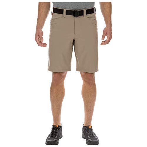 5.11 Tactical Men's Vaporlite Shorts 11-Inch Inseam, Stretch Fabric, Walking Shorts, Stone, 44, Style 73331