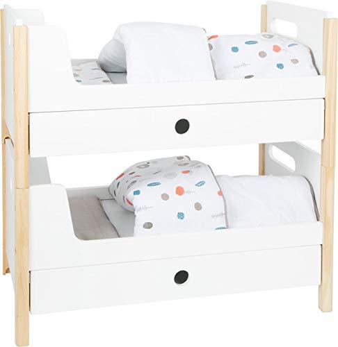 Small Foot 11811 Puppenhochbett Little Button, mit Bettkastenfächern zum Verstauen von Puppenzubehör, ab DREI Jahren Toys