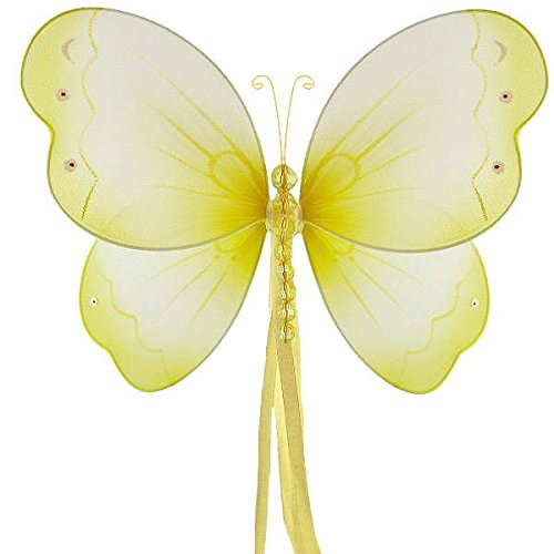 The Butterfly Grove Briana Mesh/Nylon 3D Hanging Decoration, Yellow Daffodil, Medium/11' X 7'