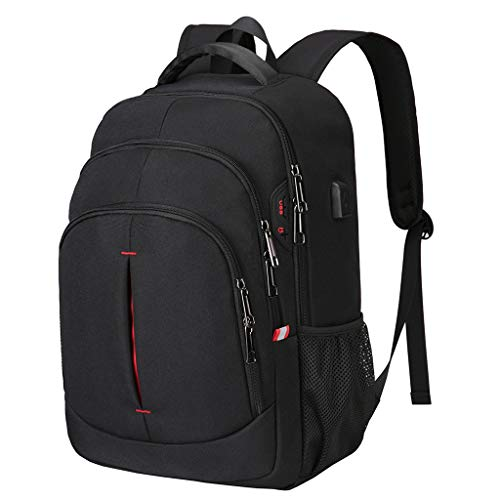 15.6 Inch Laptop Backpack, Travel Backpack Anti Theft College School Business Men's Backpacks with USB Charging Port Headphone Jack Interface Gaming Computer Backpack