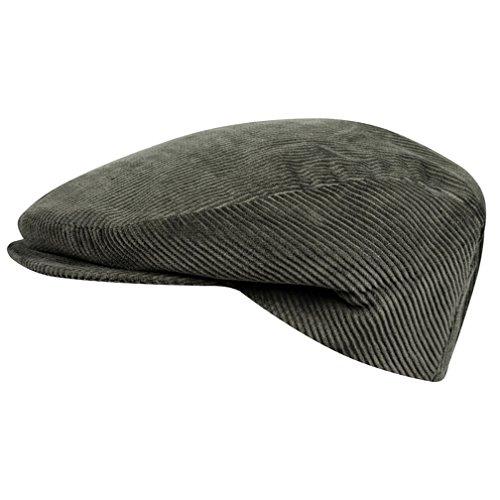 WEROR I Herren & Damen I Schiebermütze Schildmütze Schirmmütze Flatcap Cap Mütze I Cord I WEROR-114-40790 (Oliv, 61 cm)