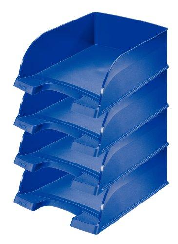 Leitz Plus Briefkorb, Jumbo, 4 Stück, blau, 52330035