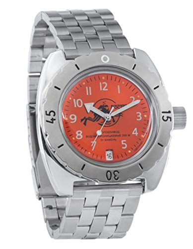 Vostok Amphibian Scuba Dude Collection Automatic Mens Wristwatch Self-Winding Military Diver Amphibia Case...