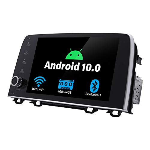 JOYING 9' Android 10 Car Stereo 1Din Audio 4GB RAM 64GB ROM Plug and Play in Dash Compatible for Honda CRV 2017 2018 2019 Support 5G WiFi/Google Play Store/Bluetooth 5.1 / SWC/Reverse Camera