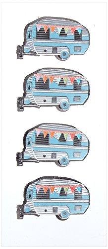 Little B Mini Stickers-Campers, andere, Multi kleuren, 0.35x6.09x15.74 cm
