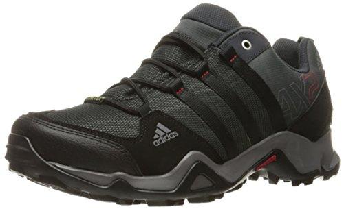 adidas Outdoor Men's Ax2 Gore-Tex Hiking Shoe, Dark Shale/Black/Light Scarlet, 11 M US