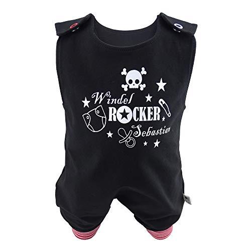 Eve Couture Babykleidung Baby Strampler Windelrocker Rocker personalisiert mit Namen (62-68)