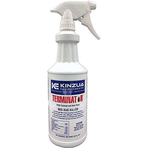 Terminator (32 oz)   Bed Bug, Ant, Flea & Cockroach Killer   All Natural, Non-Toxic, Child & Pet Friendly, 100% Effective, Fast Acting, Stain & Odor Free, Extended Protection 30 Days (32 oz)