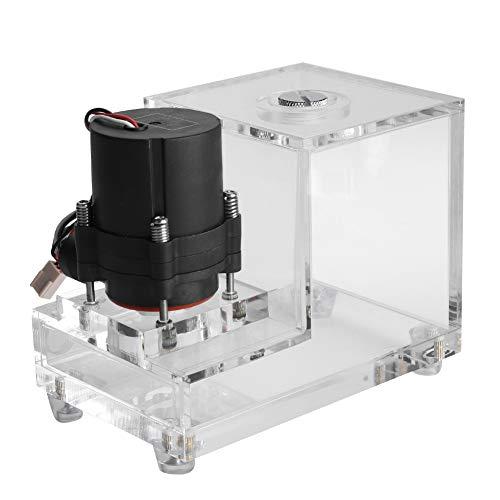 Bewinner PC Wassertank, Volltransparent Integrierte 600ML CPU-gekühlte Wasserpumpe Acrylwasserkühltank Computerpumpe 600L / H Durchfluss 4 Meter Kopf