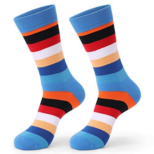 Marijee - Calcetines cortos de algodón, diseño clásico y antideslizante, color azul