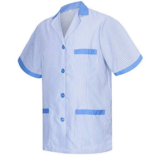 MISEMIYA - Casaca Camisa Camisetas Mujer Uniformes Laboratorios Uniformes Medicos Clinica Veterinarias Ref.T820 - L, Camisa Sanitarios T820-4 Celetes