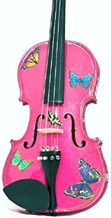 Creative concept instrumentos bsf5014 rozanna 's Butterfly Dream 1/4 violín, color fucsia
