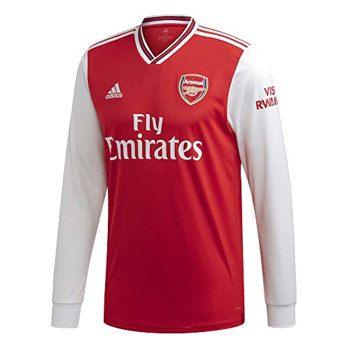 Arsenal Home Long Sleeve Men's Soccer Jersey 2019-'20 (Scarlet) (M)