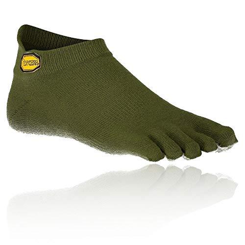 Vibram FiveFingers Hombre Athletic No Show–Calcetines, Hombre, Color Verde Militar, tamaño Large