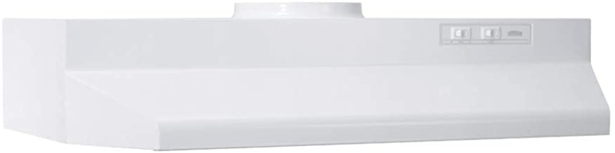 """Broan-NuTone 423001 30"""" White Ducted Convertible Range Hood Insert with Light, Exhaust Fan for Under Cabinet, Inch"""