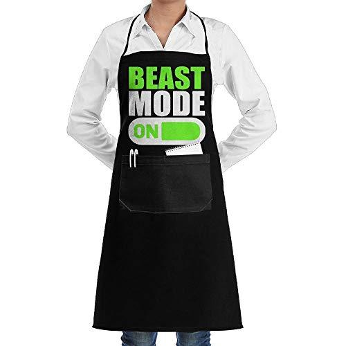 Drempad Schürzen Beast Mode Bodybuilding Adjustable Neck Bib Aprons with Front Pocket for Adult Unisex