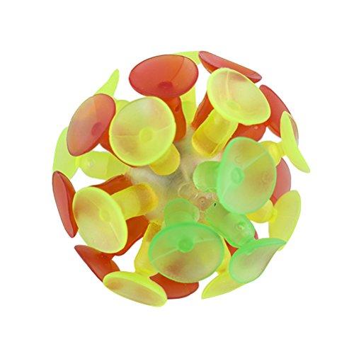 Yeahibaby 4PCS Niños Bola de Succión Multicolor Ball Flash Luminescence Juguete del Partido para Niños
