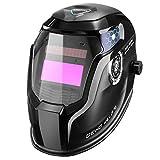 DEKO 溶接ヘルメット 溶接機マスクブルーイーグルデザインのための調節可遮光面 広くて可変なシェード範囲4/9-13 溶接ヘルメット自動暗くするフード付き