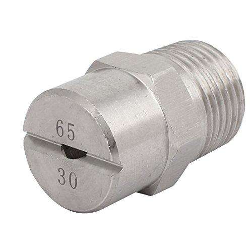 sourcingmap 1/2BSP 3,6mm orifice Dia vaporisation 65Degré plat acier Inox buse