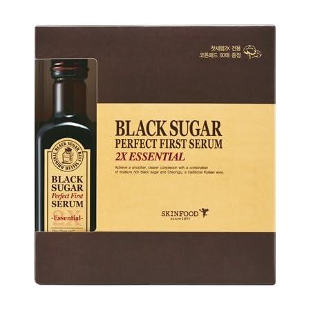 (SKINFOOD スキンフード)Black Sugar Perfect First Serum 2X ?essential- ブラックシュガー パーフェクトファーストセラム2X skin-brightening and Anti-wrinkle Effects? [並行輸入品]