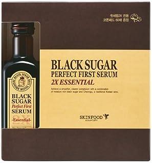 (SKINFOOD スキンフード)Black Sugar Perfect First Serum 2X ?essential- ブラックシュガー パーフェクトファーストセラム2X skin-brightening and Anti-wrinkl...