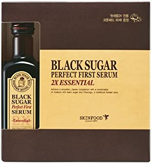 (SKINFOOD スキンフード)Black Sugar Perfect First Serum 2X ?essential- ブラックシュガー パーフェクトファーストセラム2X skin-brightening and Anti-wrinkle Effects? [並行輸入品]