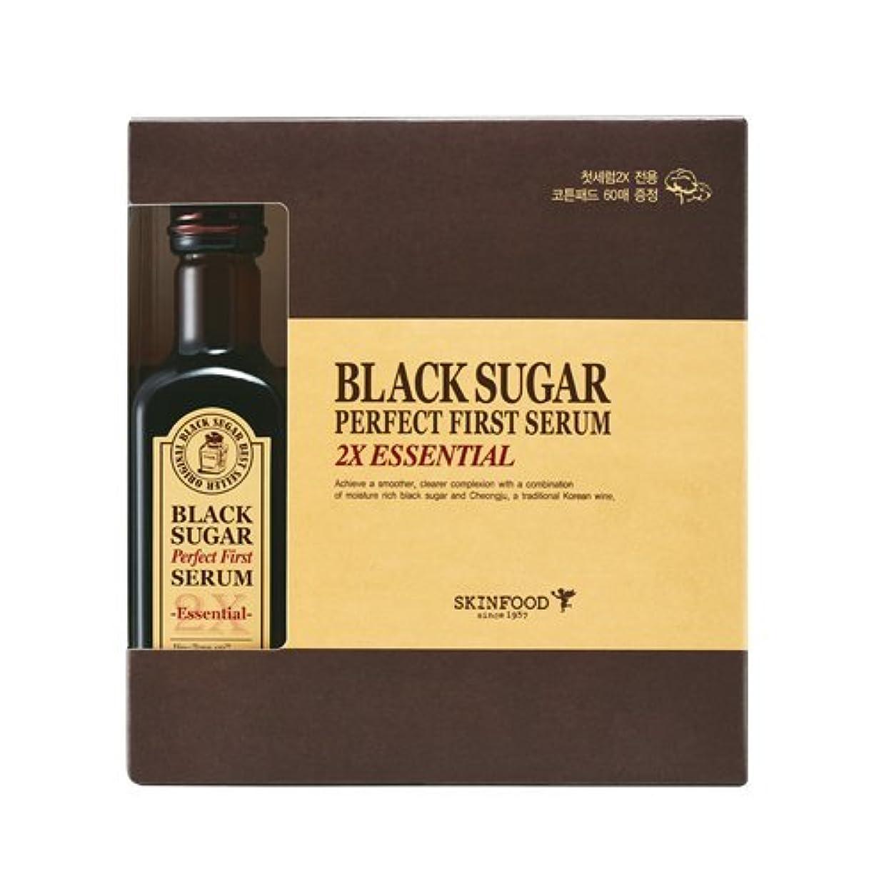 調査ミサイルきちんとした(SKINFOOD スキンフード)Black Sugar Perfect First Serum 2X ?essential- ブラックシュガー パーフェクトファーストセラム2X skin-brightening and Anti-wrinkle Effects? [並行輸入品]