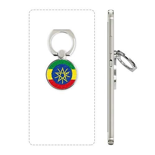 DIYthinker Strepen Ethiopië Vlag Crayon Tekenen Mobiele Telefoon Ring Stand Houder Beugel Universele Smartphones Ondersteuning Gift