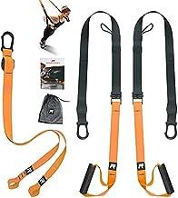 RHINOSPORT Sling Trainer Sling Trainer Set met deuranker Instelbaar Fitness Thuis Suspension - Geschikt voor onderweg en v...