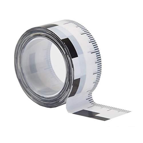 2 x Klebeband mit Masseinteilung - 19 mm - für Sachverständigen-Zubehör (Rissbreiten) & Gutachter Ausrüstung | Kfz Wertermittler Messwerkzeuge für Immobilienbewertung & Wertgutachten