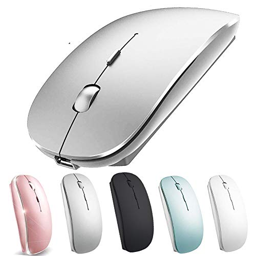 Wireless Mouse for MacBook Air/Pro Wireless Mouse for MacBook Laptop Windows iMac (Silver)