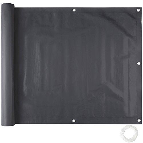TecTake Brise Vue pour Balcon Protection visuelle   Résistant aux intempéries - diverses Couleurs et diverses Tailles au Choix (0,75 x 6 m   Noir   No. 402700)