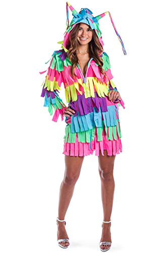 Funny Women's Adult Pinata Costume Dress - Pinata Halloween Costume Outfit: X-Small