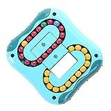 CaLeQi Descompresión Rotatorio Magic Bean Cube Juguetes Cuadrado Rotatorio Perlas pequeñas Magic Cube Rompecabezas para niños Descompresión Forma Especial Magic Cube Juego de Pelota Juguetes (Azul)