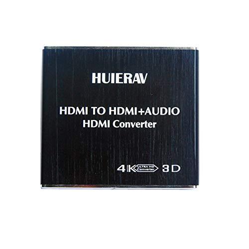 HUIERAV 4K*2K Konverter - HDMI zu HDMI + Optisches SPDIF mit 3,5-mm-Stereo-HDMI Audio-Extractor | HDMI zu SPDIF Konverter, Splitter |HDMI zu Cinch
