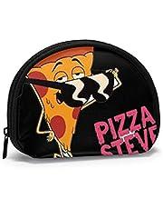 Pizza Steve Occhiali da sole Portamonete piccolo per donna Portamonete carino per ragazza Portamonete Borsa portaoggetti Portafoglio a conchiglia