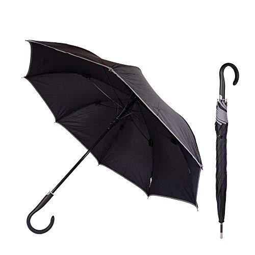 Sicherheitsschirm - mit gratis Videokurs | Unzerbrechlicher Abwehr Security Regenschirm für Frauen | Selbstverteidigung Selbstbehauptung (MIt Reflektionsband)