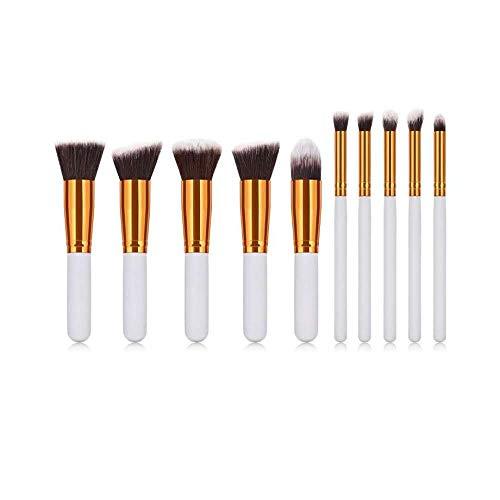 Fanxp® 10 pièces pinceaux de maquillage Set Nose Shadow Silhouette Brush Highlight Foundation Brush-White