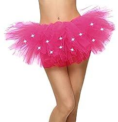 Rose LED Light Up Neon Tulle Tutu Skirt