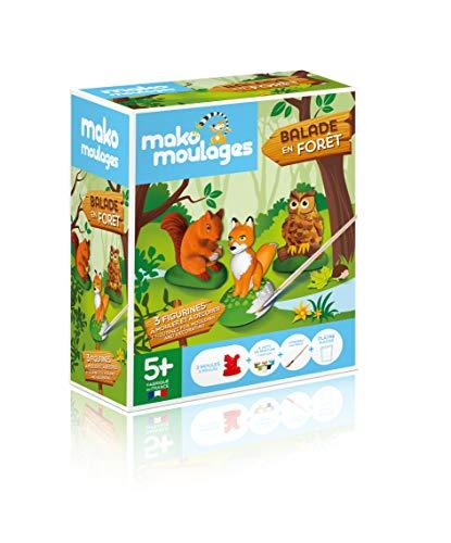 mako moulages - kit créatif 3 moules - 3 Animaux de la fôret