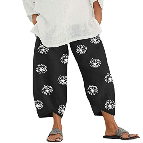 Pantalones De Mujer De Primavera Y Verano ImpresióN De Anillo Anual Estiramiento De Moda Pantalones Casuales De Bolsillo Suelto